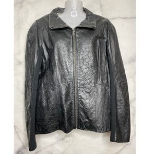 Danier Leather Black Jacket XL Like New